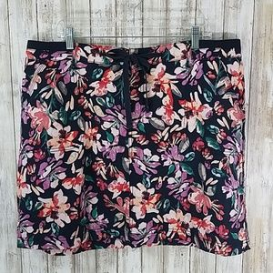 Faded Glory floral print skirt women's size 18